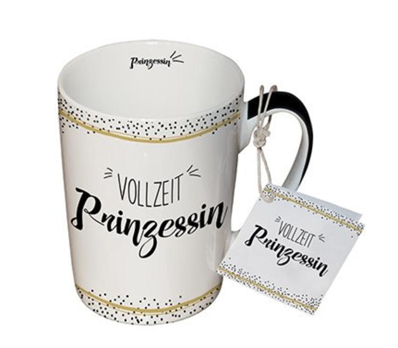 Tasse mit Henkel   Vollzeit Prinzessin   Porzellan