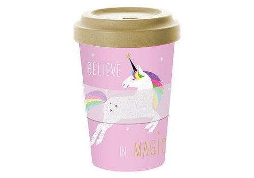 To go Becher | Pink Unicorn | Bamboo