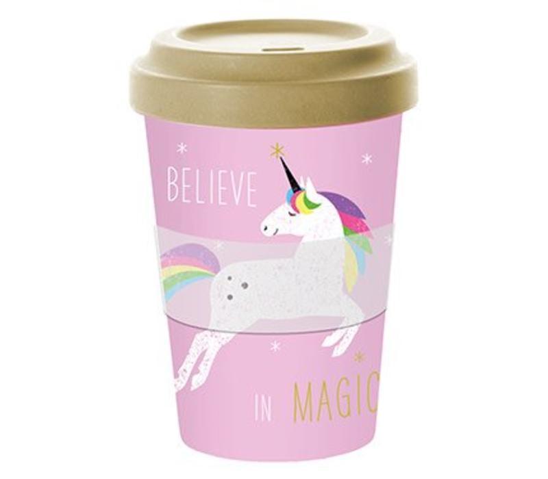 To go Becher | Pink Unicorn | Bamboo