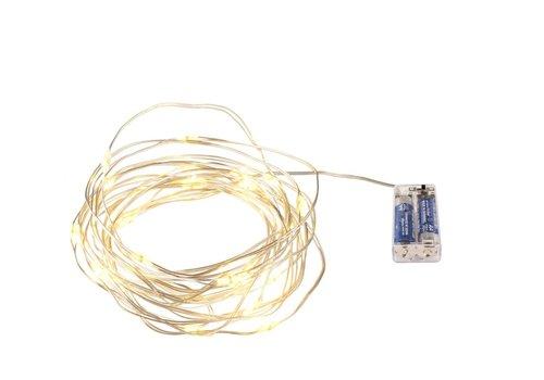 Lichterkette mit 30 MICROLED   Batterie   2.7 M