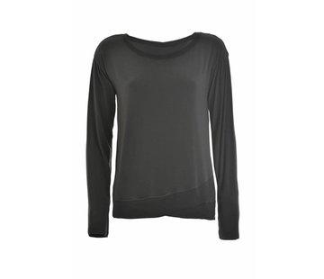 DEHA Shirt | Long Sleeve T-Shirt | Caviar Grey