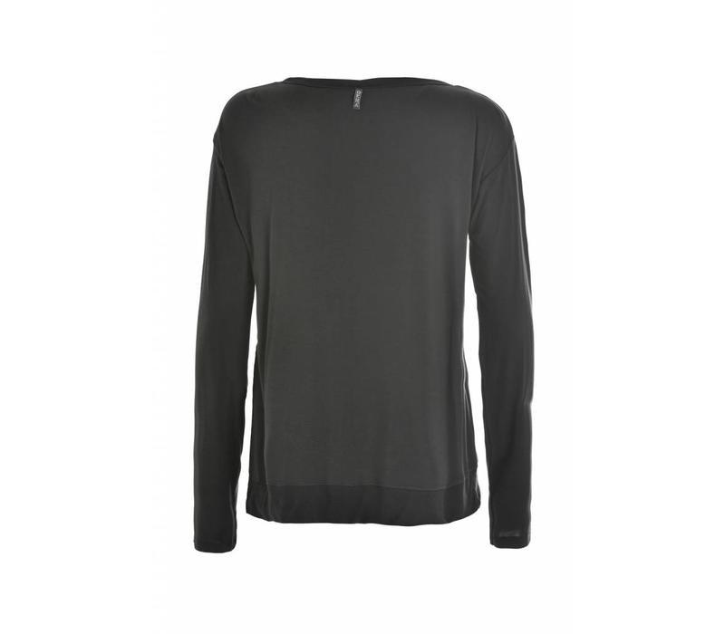 Shirt | Long Sleeve T-Shirt | Caviar Grey