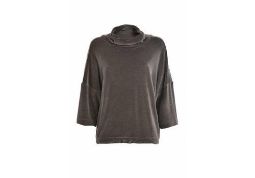 DEHA Sweatshirt | Chenille Crop | Niki Plüsch |Caviar grey