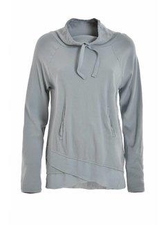 DEHA Sweatshirt | High Neck Sweatshirt | Smoke Blue
