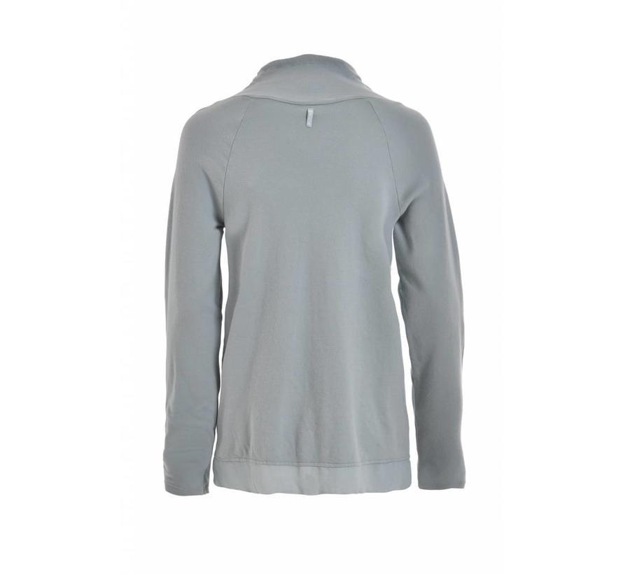 Sweatshirt | High Neck Sweatshirt | Smoke Blue