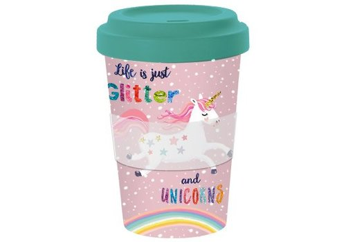 To go Becher | Glitter & Unicorns | Bamboo
