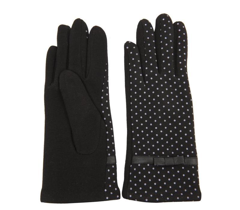 Handschuhe Dotted | Schwarz