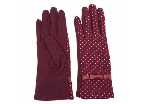 Clayre & Eef Handschuhe Dotted | Bordeaux