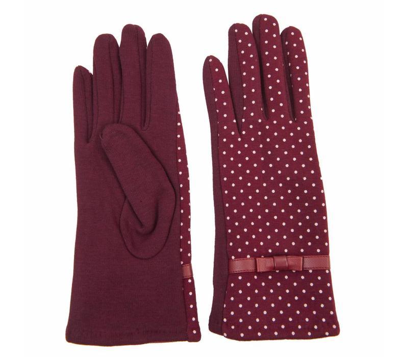 Handschuhe Dotted | Bordeaux