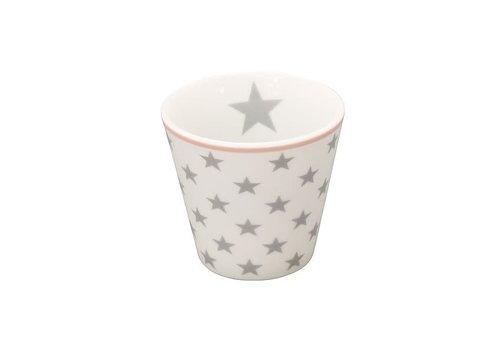 Krasilnikoff Espresso Tasse | Happy Mugs | Star light grey white