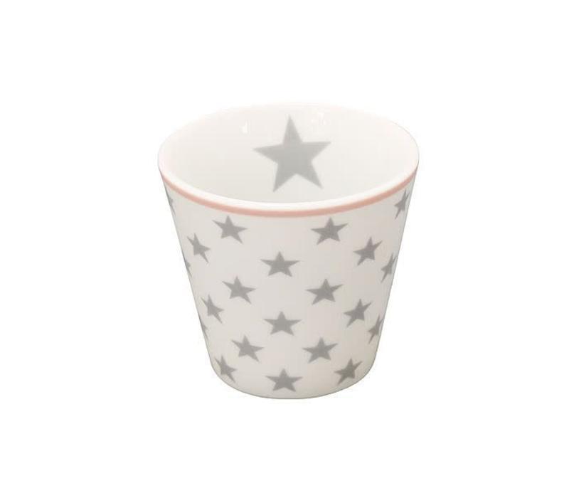 Espresso Tasse | Happy Mugs | Star light grey white