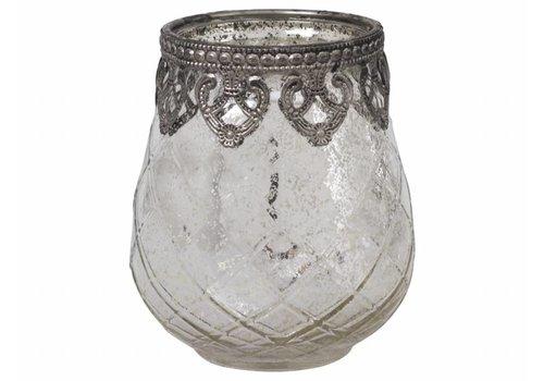Chic Antique Teelichthalter Ampel | Glas | Gross