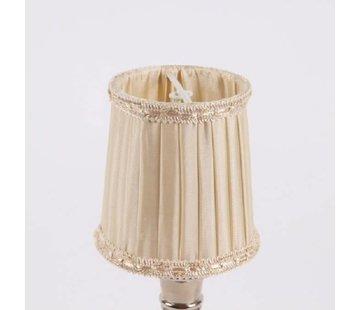 Lampenschirm   für Kronleuchter   D 8 cm   Warm Weiss