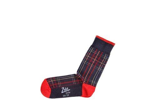 Zeha Berlin Socken | Mittel | dunkelblau/rot/gelb/hellblau