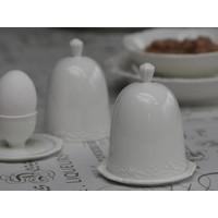 Eierbecher mit Deckel | Provence | Weiss