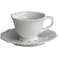 Kaffeetasse mit Unterteller | Provence | Weiss