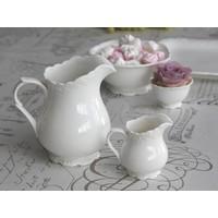 Milchkännchen   Provence   Porzellan Weiss