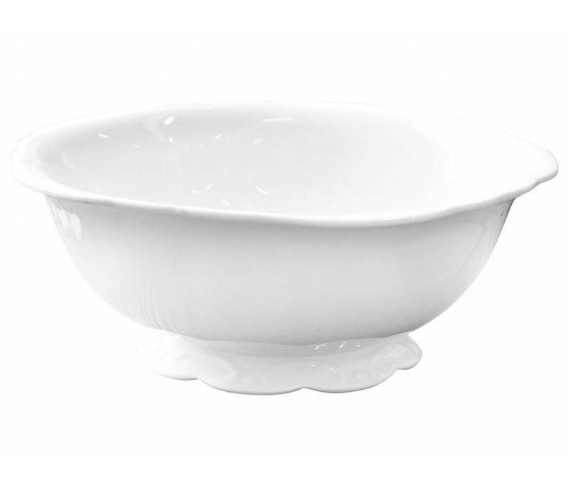 Salatschüssel   Provence   Porzellan Weiss