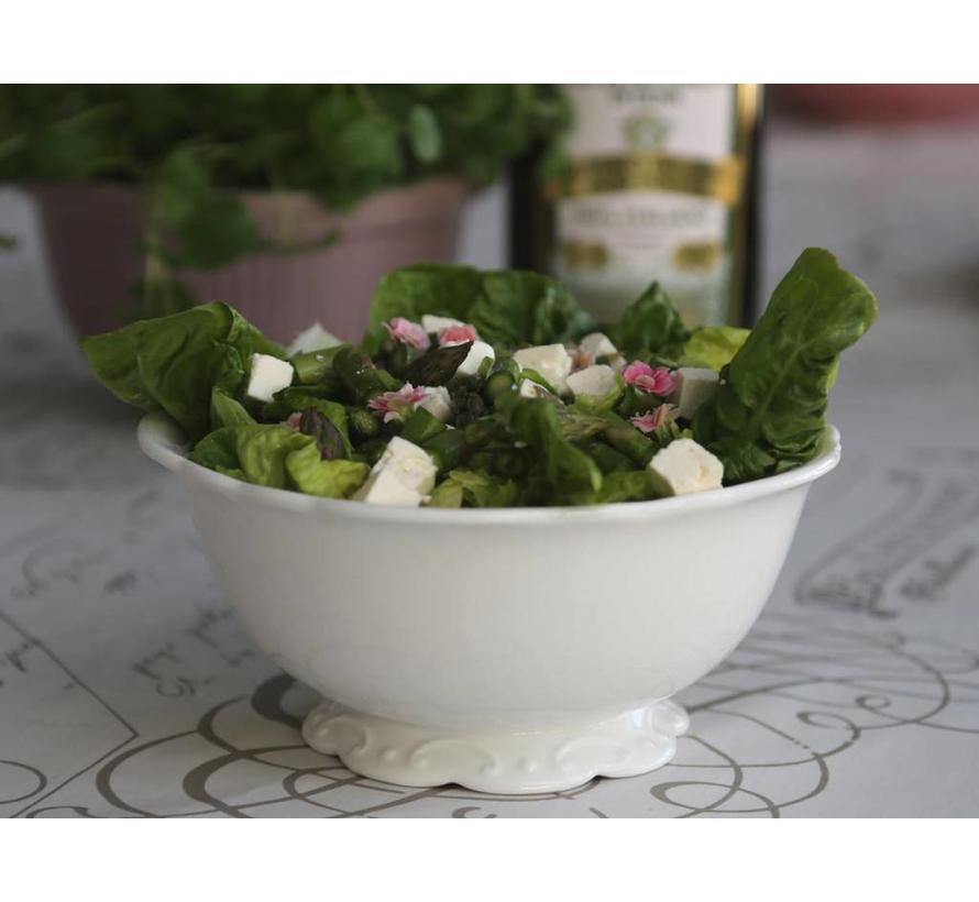 Salatschüssel | Provence | Porzellan Weiss