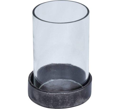 Industrie Teelichthalter   Eisen   Glas