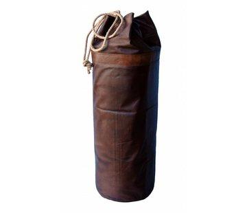 Sandsack aus Leder   rustikaler Boxsack
