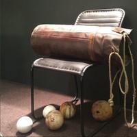 Sandsack aus Leder | rustikaler Boxsack