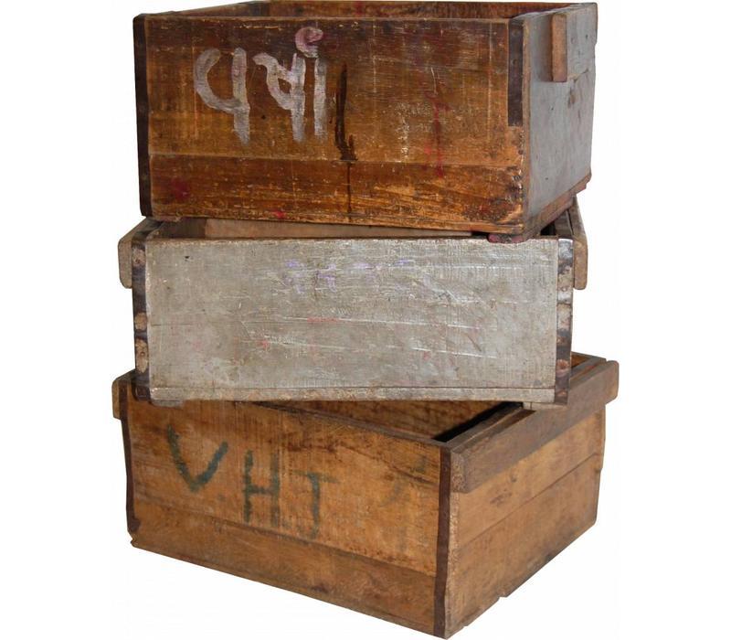rustikale Holzkiste mit Patina |  jedes Stück ein Unikat