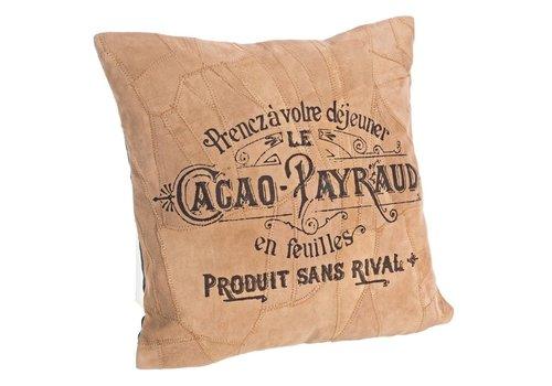 Kissen aus Recyclingleder | Vintage | 40x40 cm