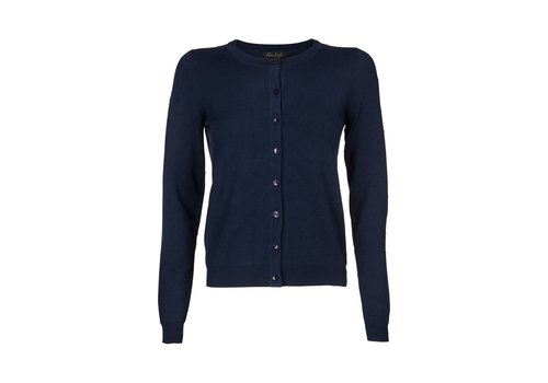 King Louie Cardigan | Cardi Roundneck Droplet | dark navy