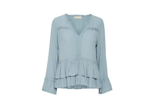 Cream Clothing Bluse | Kalan Blouse |  Misty Ocean