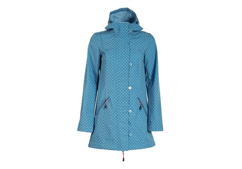 Blutsgeschwister Softshell-Parka | wild weather long anorak | little dots