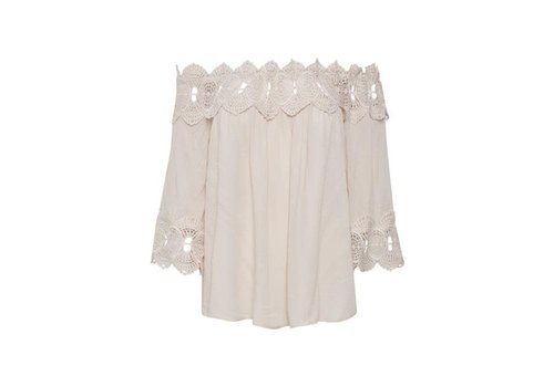 Cream Clothing Bluse | Bea Lace Blouse | Chalk