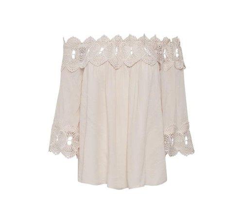 Cream Clothing Bluse | Bea Lace Blouse | Chalk