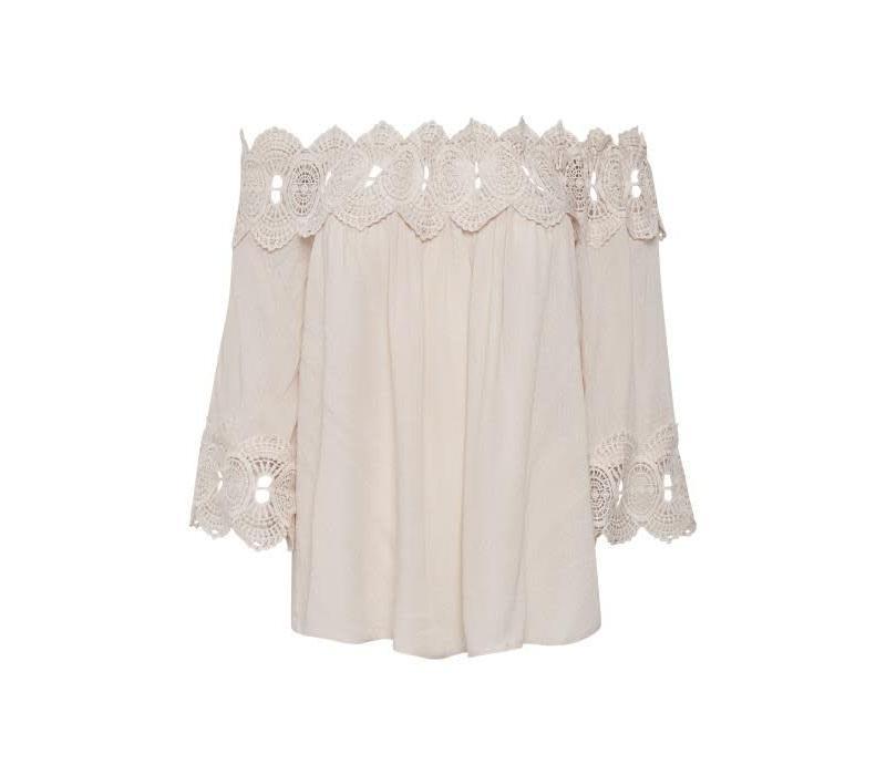 Bluse | Bea Lace Blouse | Chalk