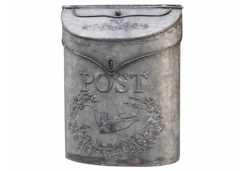 Chic Antique Briefkasten aus Blech | Vintage Design | Grau