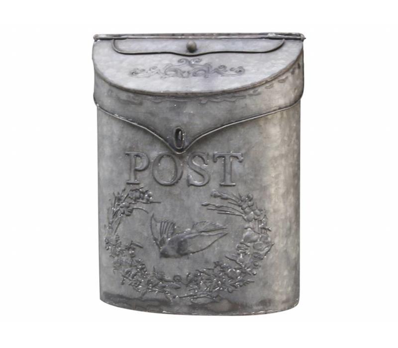 Briefkasten aus Blech | Vintage Design | Grau