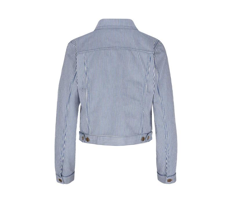Jacke | Janey Jacket Americana Stripe | Palace Blue