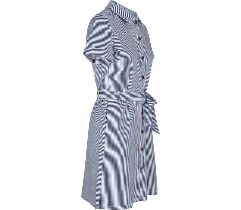 Kleid | Norma Dress Americana Stripe | Palace Blue
