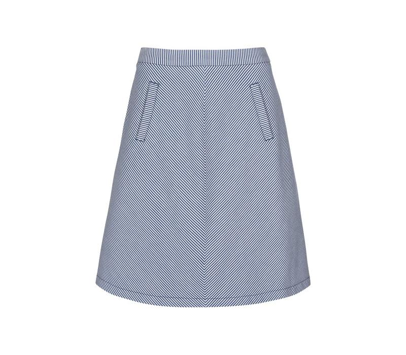 Rock | Davis Skirt Americana Stripe | Palace Blue
