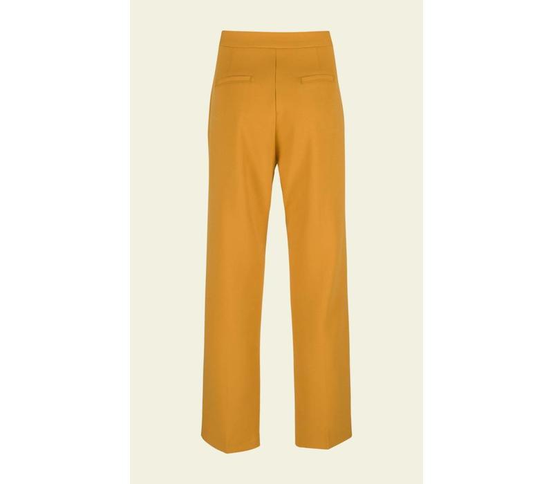 Hose | Luz Pants Heavy Polyester Crepe | Honey Yellow