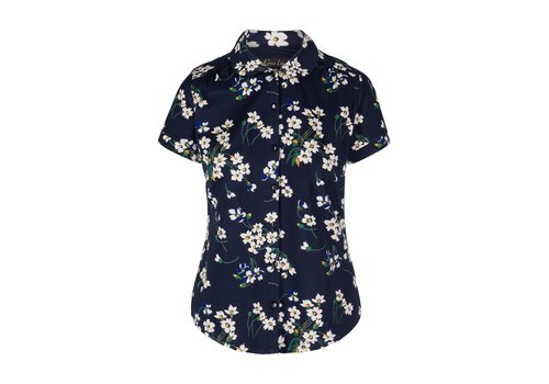 King Louie Bluse | Blouse Round Collar Littlebell | Blue