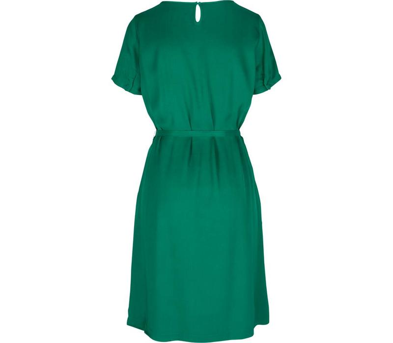 Kleid | Billie Dress Satin Viscose Woven | Meadow Green