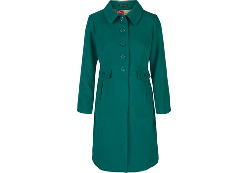 King Louie Mantel | Luisa Coat Heavy Polyester Crepe | Ponderosa Green