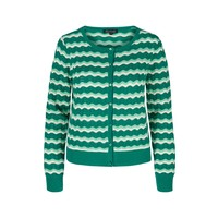 Cardigan | Cardi Roundneck New Wave | Meadow Green