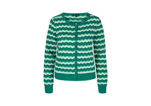 King Louie Cardigan | Cardi Roundneck New Wave | Meadow Green