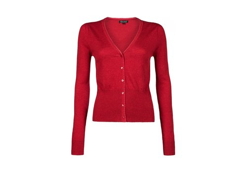 King Louie Cardigan | Cardi V Cocoon |  Icon Red