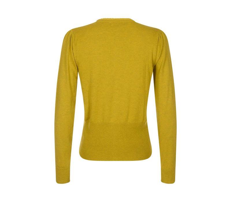Cardigan | Cardi V Cocoon | Spring Yellow