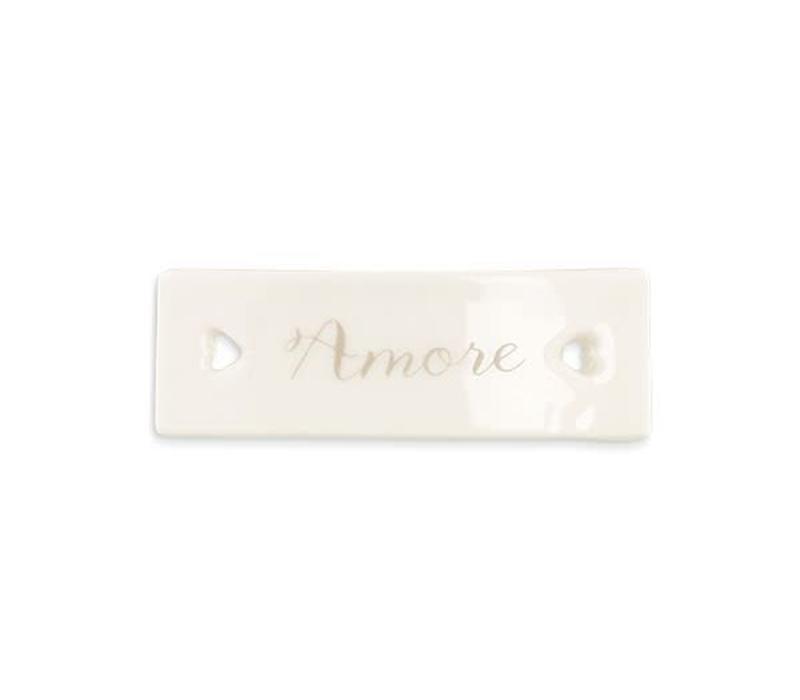 Porzellan Etikette | Amore | Weiss