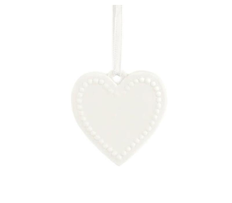 Herz Anhänger | Keramik | Weiss