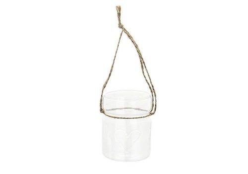 Teelicht Anhänger | Herz | Glas | klein